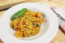 Rezept für vegetarisches Kürbisrisotto